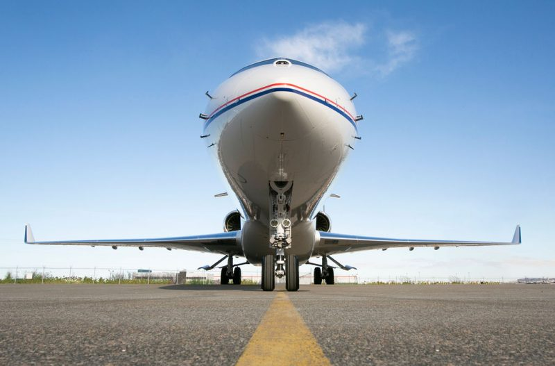 Global 7500 Nose cone - ground view